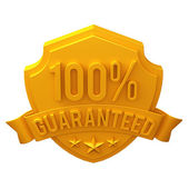 3d golden illustration badge — Stockfoto