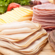 Big group of meat, cheese and vegetables — Stock Photo #41981113