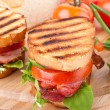 Bacon, lettuce and tomato BLT sandwiches — Stock Photo #41981143