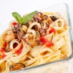Seafood pasta — Stock Photo #41981933