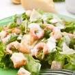 Stock Photo: Traditional caesar salad with shrimp