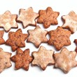 Stock Photo: Group of star-shaped homemade christmas cookies