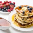 Stock Photo: American Blueberry Pancakes