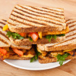 Grilled chicken sandwiches — Stock Photo