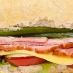 Постер, плакат: Long baguette sandwich