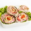 Wrapped tortilla sandwich rolls — Stock Photo #41985009