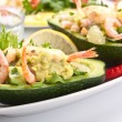 Prawn and avocado salad — Stock Photo