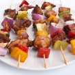 Chicken and vegetables kebabs — Stock Photo #41985825