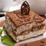 Portion of italian dessert tiramissu — Stock Photo #41985827