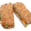 Stock Photo: Pressed Eggplant and Pepper Sandwich