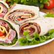 Wrapped tortilla sandwich rolls — Stock Photo #41986529