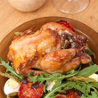 Chicken garnished with vegetables — Stock Photo #41986629