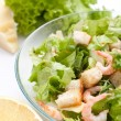 Traditional caesar salad with shrimp — Stock Photo #41987035