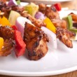 Plate with kebabs — Foto Stock