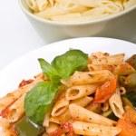 Mediterranean penne pasta — Foto Stock