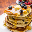 American Blueberry Pancakes — Stock Photo #41988801