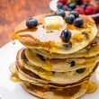 American Blueberry Pancakes — Stock Photo