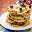 American Blueberry Pancakes — Stock Photo #41988805