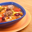 Soup with vegetables and red kidney beans — Stock Photo #41989045