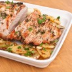 Boneless Pork Loin Roast with Herbed Pepper Rub — Stock Photo #41989593