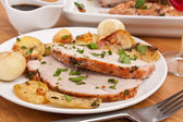 Boneless Pork Loin Roast with Herbed Pepper Rub — Stock Photo
