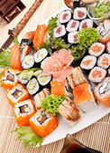 Big colorful sushi set — Stock Photo