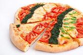Sliced vegetable pizza — Stock Photo