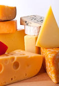 Group of Various types of cheese — Stock Photo
