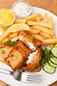 Fish and chips on a plate — Stock Photo