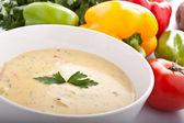 порция крем-суп — Стоковое фото