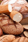 Bread assortment background — Stock Photo
