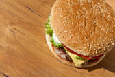 Big tasty cheeseburger — Stock Photo