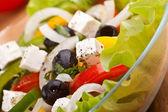 Close up healthy greek salad — Foto Stock
