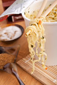 Cup of ramen noodles — Stock Photo