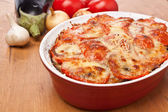 Classic Greek Moussaka with Eggplant — Stock Photo