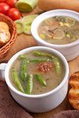 Grönsakssoppa med köttbullar — Stockfoto