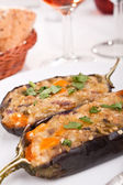 Aubergines stuffed with cheese — Stock Photo