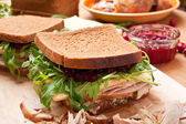 Turkey sandwich — Foto de Stock