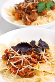 Two servings of spaghetti bolognese — Stock Photo