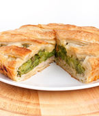 Spinach and green beans pie — Stock Photo
