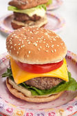 Fresh cheeseburger — Stock Photo