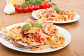 Pasta with sauce — Stock Photo