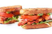 бекон, латук и помидоры blt бутерброды — Стоковое фото