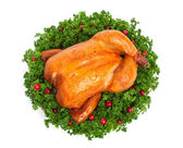 Chicken with parsley — Stock Photo