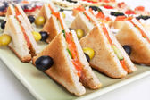 Club tea sandwiches — Stock Photo