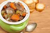 Beef stew with celery and carrot — Stock Photo