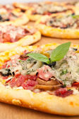 Salami pizza — Stock Photo