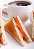 Salmon club sandwiches — Stock Photo