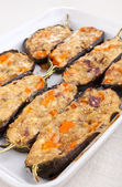 Stuffed aubergines — Stock Photo