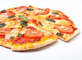 Sliced margerita pizza — Stock Photo